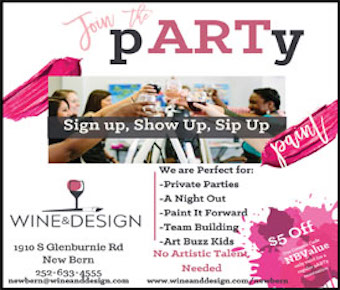 Wine and design coupon
